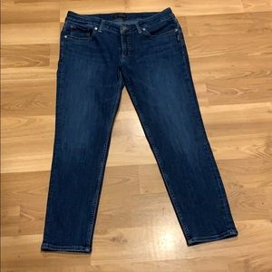 Silver skinny cropped jeans size 29x25